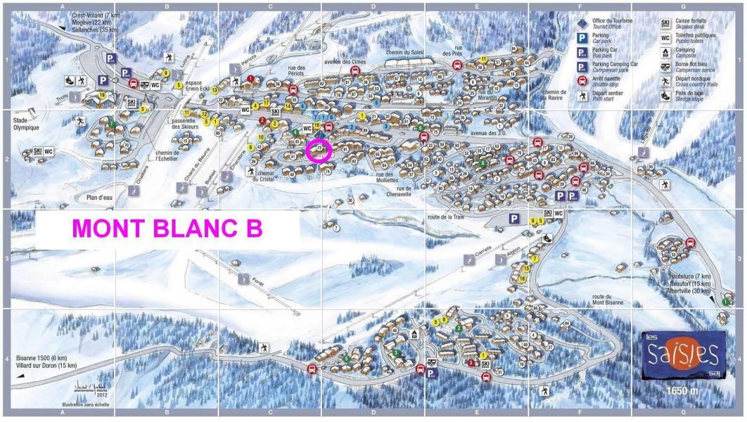 Location au ski Résidence Mont Blanc B - Les Saisies - Plan