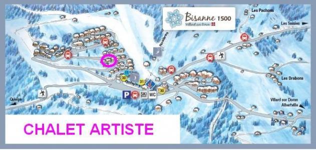 Rent in ski resort Chalet Artiste - Les Saisies - Plan
