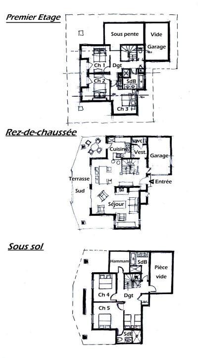 Rent in ski resort 6 room chalet 14 people - Chalet Artiste - Les Saisies - Plan