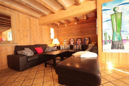 Rent in ski resort 6 room chalet 14 people - Chalet Artiste - Les Saisies - Living room