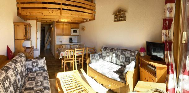 Rent in ski resort 2 room mezzanine apartment 6 people (116) - Chalet Cristal 1 - Les Saisies - Living room