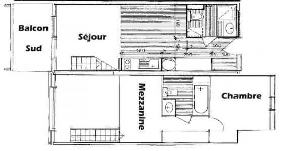 Rent in ski resort 2 room mezzanine apartment 6 people (112) - Chalet Cristal 1 - Les Saisies