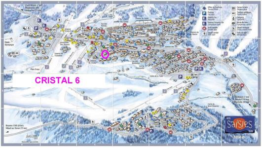 Rent in ski resort Chalet Cristal 6 - Les Saisies - Plan