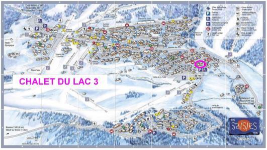 Rent in ski resort Chalet du Lac 3 - Les Saisies - Plan