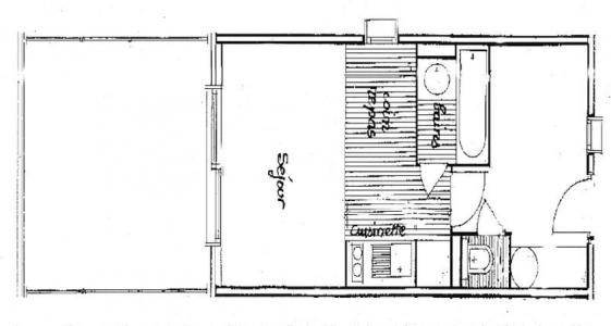 Rent in ski resort Studio sleeping corner 5 people (301) - Chalet du Lac 3 - Les Saisies - Plan