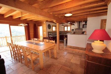 Rent in ski resort 7 room triplex chalet 14 people (CHACHO) - Chalet Pierres du Chozal - Les Saisies - Dining area
