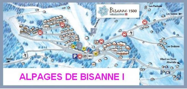 Rent in ski resort Les Alpages de Bisanne I - Les Saisies - Plan