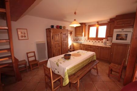 Rent in ski resort 4 room mezzanine apartment 8 people (FERJ07) - Les Fermes du Beaufortain J - Les Saisies - Dining area