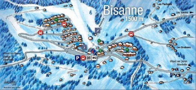 Rent in ski resort Les Fermes du Beaufortain J - Les Saisies - Plan