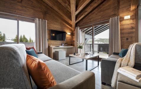 Location au ski Résidence Amaya - Les Saisies - Canapé