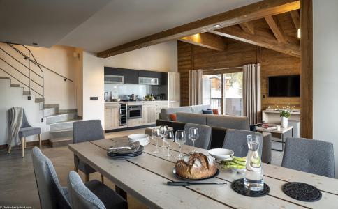 Rent in ski resort Résidence Amaya - Les Saisies - Dining area