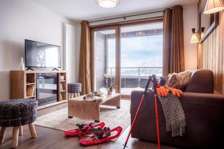 Location au ski Résidence Club MMV Les Chalets des Cîmes - Les Saisies - Canapé