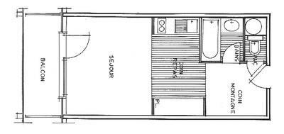 Rent in ski resort Studio sleeping corner 4 people (1102 n'est plus commercialisé) - Résidence Grand Mont 1 - Les Saisies