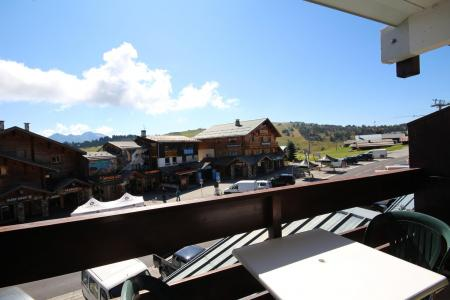 Rent in ski resort Studio sleeping corner 4 people (1103) - Résidence Grand Mont 1 - Les Saisies - Balcony