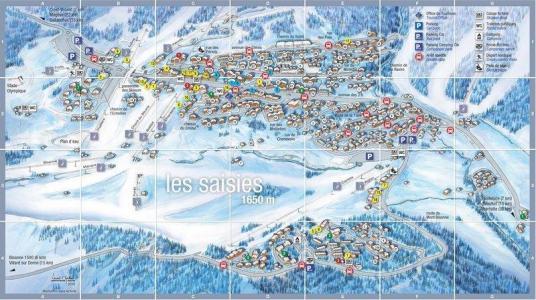 Rent in ski resort Résidence Grand Mont 4 - Les Saisies - Plan