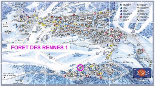 Rent in ski resort Résidence la Forêt des Rennes 1 C - Les Saisies