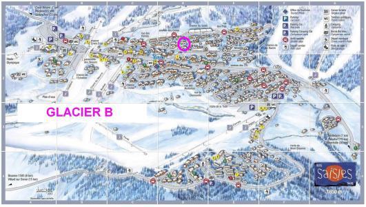Rent in ski resort Résidence le Glacier B - Les Saisies - Plan