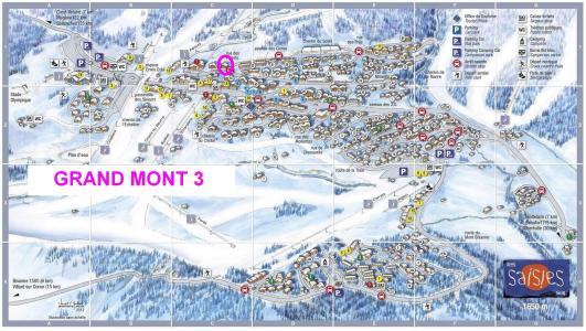 Rent in ski resort Résidence le Grand Mont 3 - Les Saisies - Plan
