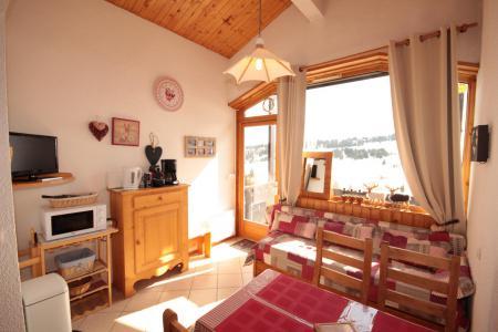 Rent in ski resort 2 room apartment 4 people (257) - Résidence le Village 2 - Les Saisies - Living room