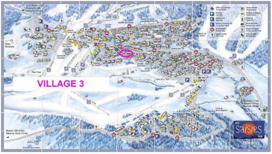 Rent in ski resort Résidence le Village 3 - Les Saisies - Plan