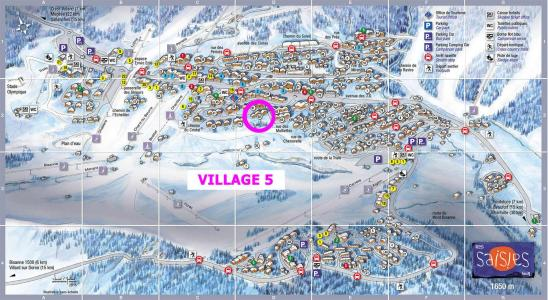 Rent in ski resort 2 room apartment cabin 5 people (533) - Résidence le Village 5 - Les Saisies - Plan