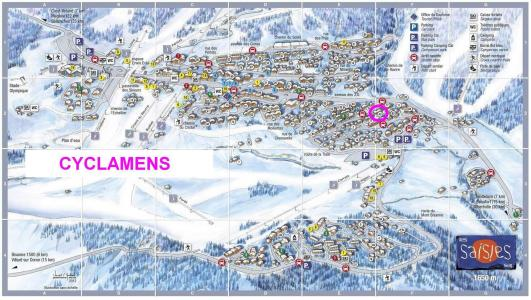 Rent in ski resort Résidence les Cyclamens - Les Saisies - Plan