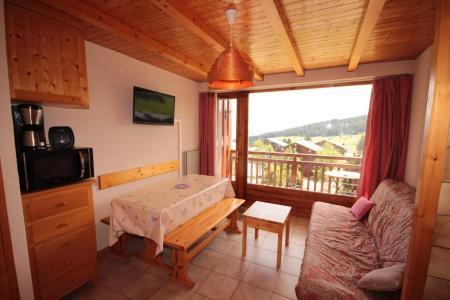 Rent in ski resort Studio sleeping corner 4 people (017) - Résidence les Cyclamens - Les Saisies - Living room