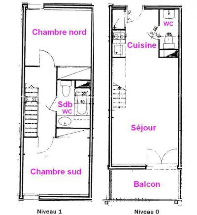 Rent in ski resort 3 room apartment 6 people (021) - Résidence Lezette 1 - Les Saisies
