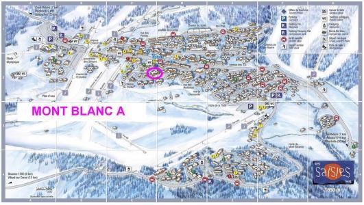 Rent in ski resort Résidence Mont Blanc A - Les Saisies - Plan