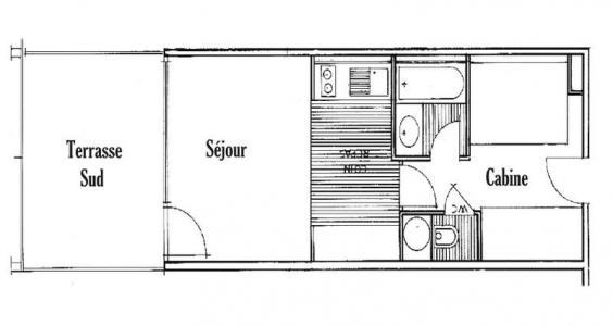 Rent in ski resort Studio sleeping corner 5 people (116 n'est plus commercialisé) - Résidence Mont Blanc A - Les Saisies