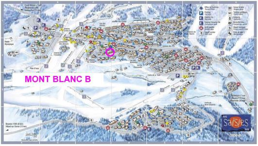 Rent in ski resort Résidence Mont Blanc B - Les Saisies - Plan