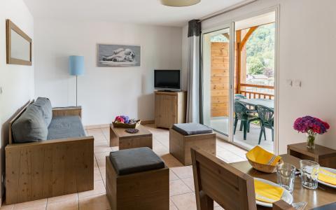 Location au ski Résidence Lagrange le Belvédère - Luchon-Superbagnères - Coin séjour