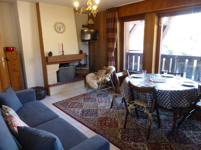 Аренда на лыжном курорте Апартаменты 2 комнат 4 чел. - Résidence Palais des Sports - Megève - Салон