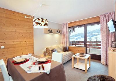 Location au ski Residence Lune Argent - Megève - Coin séjour