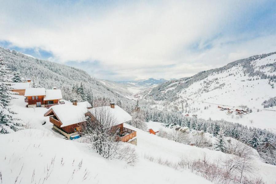Vacances en montagne Chalet  L'Arclusaz - Méribel-Mottaret - Extérieur hiver