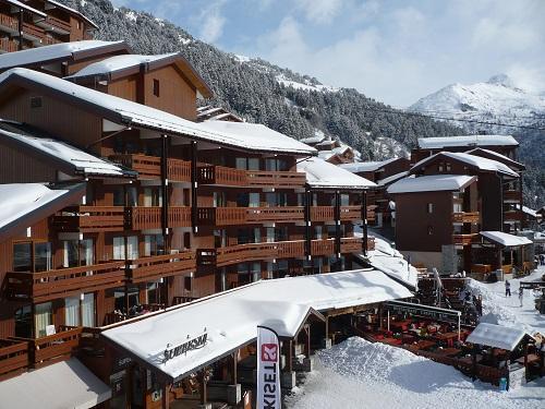 Holiday in mountain resort Hôtel Mont Vallon - Méribel-Mottaret - Winter outside