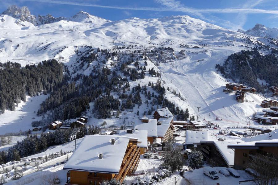 Location au ski Appartement 2 pièces mezzanine 6 personnes (014) - Résidence Aiguille du Fruit - Méribel-Mottaret - Extérieur hiver