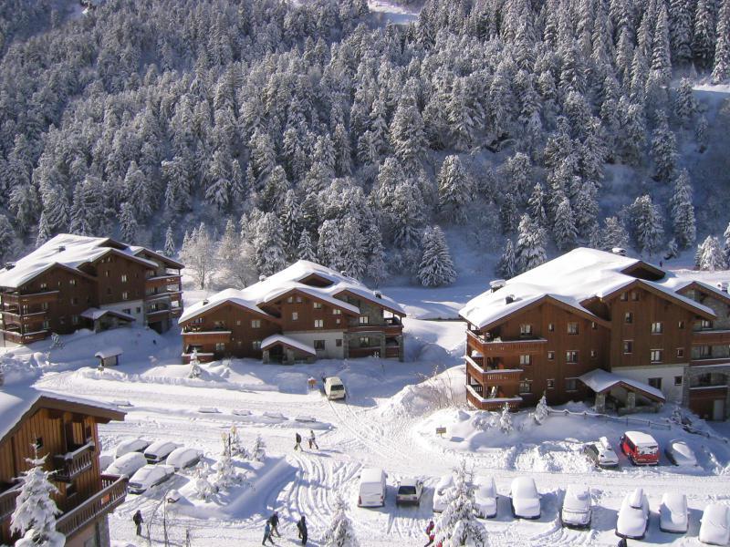 Location au ski Appartement 3 pièces mezzanine 6 personnes (011) - Résidence Alpages C - Méribel-Mottaret - Extérieur hiver
