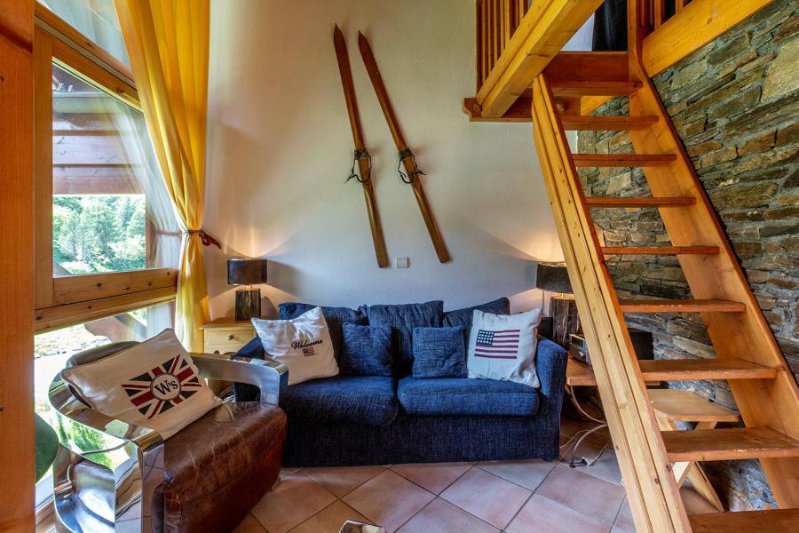 Ski verhuur Appartement 3 kamers mezzanine 6 personen (011) - Résidence Alpages C - Méribel-Mottaret - Zitbank