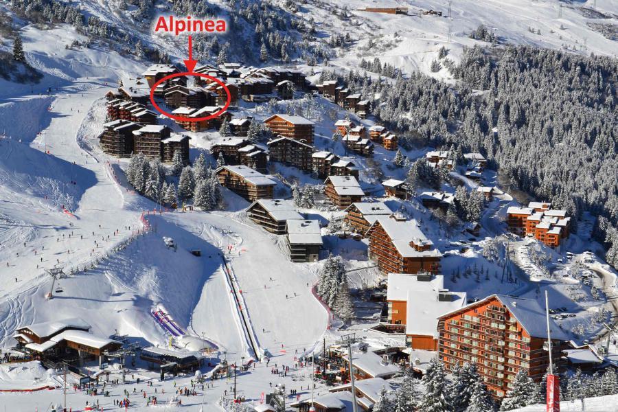 Vacances en montagne Résidence Alpinéa - Méribel-Mottaret - Extérieur hiver