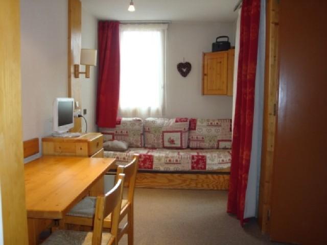 Location au ski Studio 4 personnes (013) - Residence Arpasson - Méribel-Mottaret - Séjour
