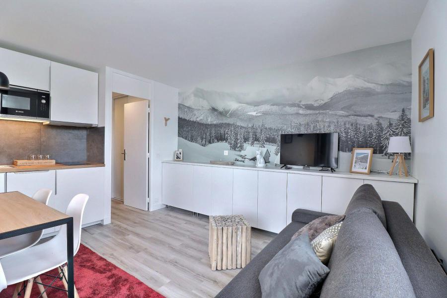 Location au ski Appartement 2 pièces 4 personnes (53) - Résidence Creux de l'Ours Bleu - Méribel-Mottaret - Banquette-lit tiroir