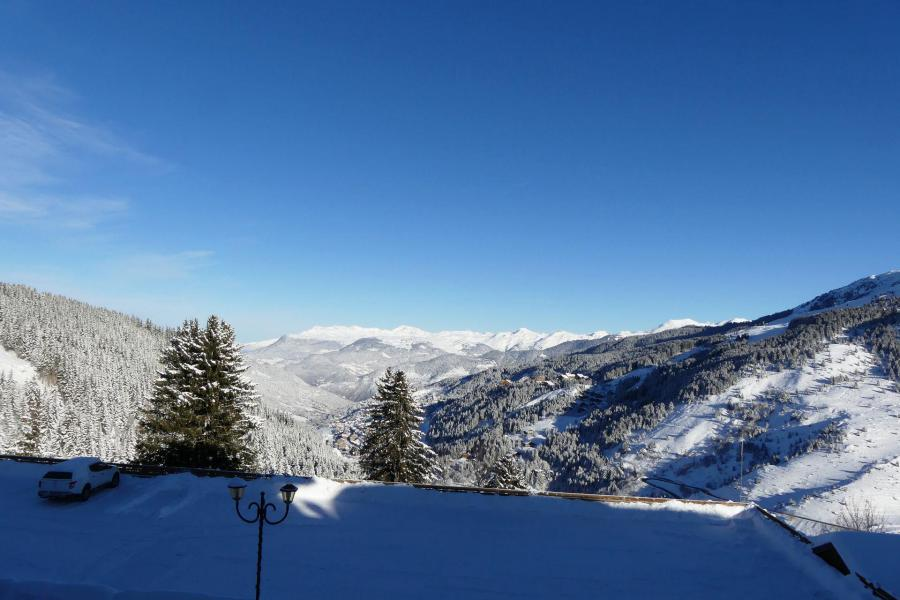 Location au ski Résidence Creux de l'Ours Rouge - Méribel-Mottaret - Extérieur hiver