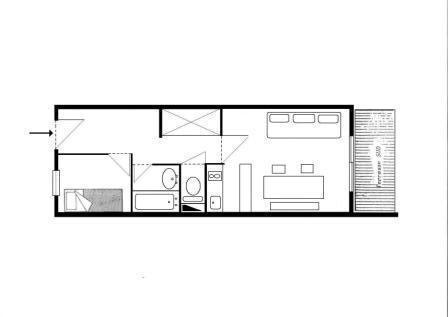 Location au ski Appartement 2 pièces 5 personnes (A17) - Résidence Grand Dou - Méribel-Mottaret - Plan