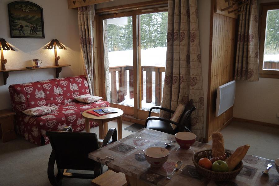 Ski verhuur Appartement 2 kamers 6 personen (A02) - Résidence Grand Dou - Méribel-Mottaret - Woonkamer