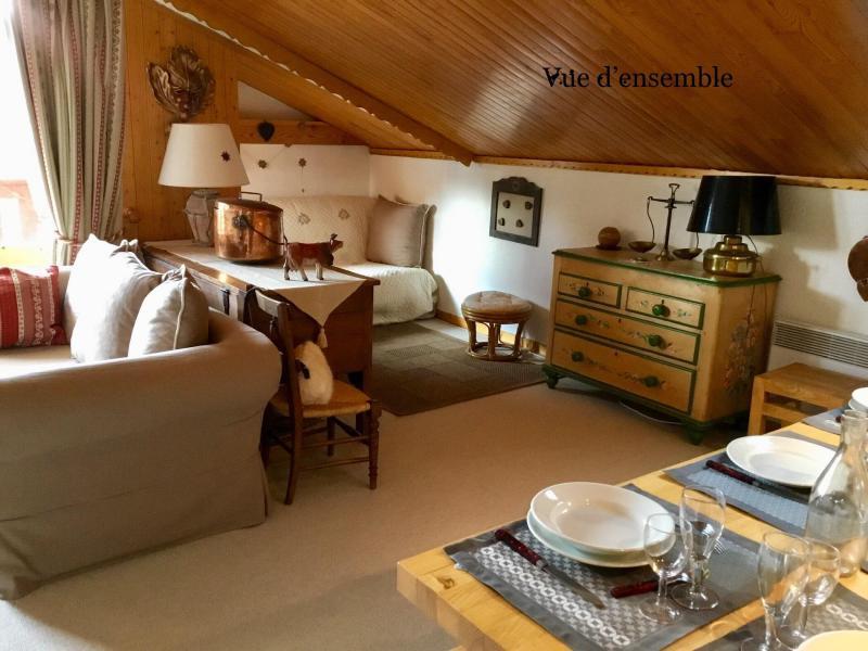 Ski verhuur Appartement 3 kamers 6 personen (A25) - Résidence Grand Dou - Méribel-Mottaret - Woonkamer