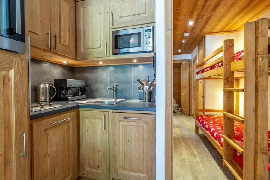 Ski verhuur Appartement 2 kamers 6 personen (C04) - Résidence l'Alpinéa - Méribel-Mottaret - Keukenblok