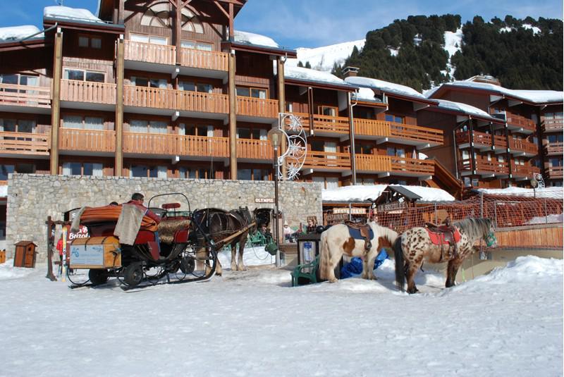 Location au ski Studio coin montagne 4 personnes (001) - Résidence l'Olympie I - Méribel-Mottaret - Extérieur hiver