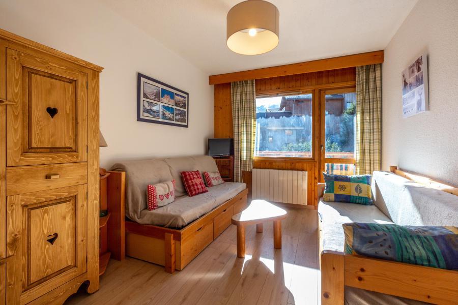 Ski verhuur Appartement 2 kamers 6 personen (030) - Résidence la Vanoise - Méribel-Mottaret - Woonkamer