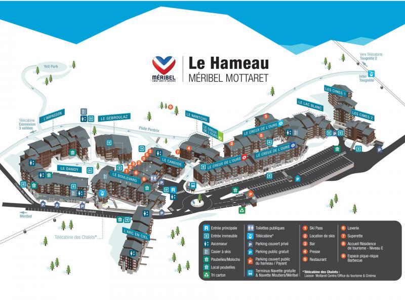 Ski verhuur Résidence Lac Blanc - Méribel-Mottaret - Kaart
